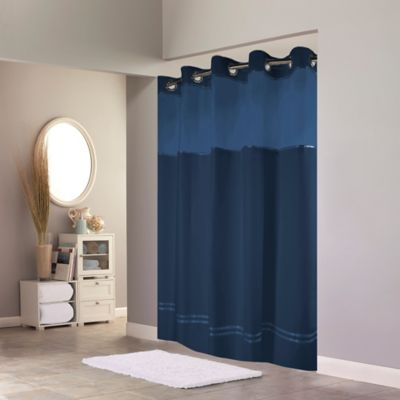 Buy Hookless Escape Shower Curtain In Blue From Bed Bath Amp Beyond
