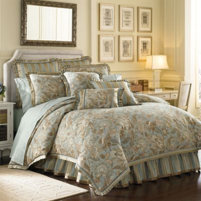 J. Queen New York™ Barcelona Comforter Set in Aqua - Bed ...
