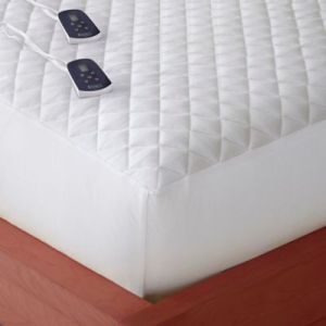 Buy Heated Mattress Pads from Bed Bath   Beyond Micro Flannel     Twin Electric Mattress Pad in White
