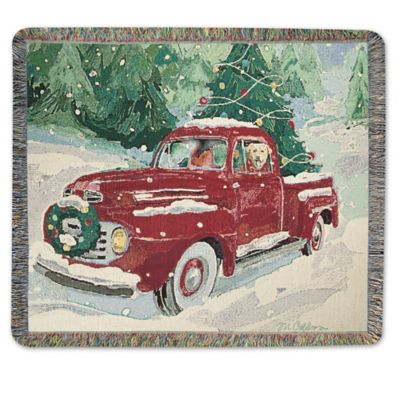 Cherry Red Truck Throw Blanket WwwBedBathandBeyondcom
