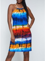 Tie Dye Sleeveless Dress Size: Medium