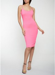 Cami Bodycon Dress in Pink Size: Medium