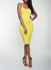 Cami Bodycon Dress in Yellow Size: Medium
