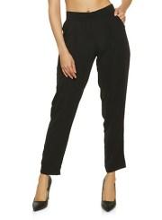 Pintuck Dress Pants in Black Size: Medium