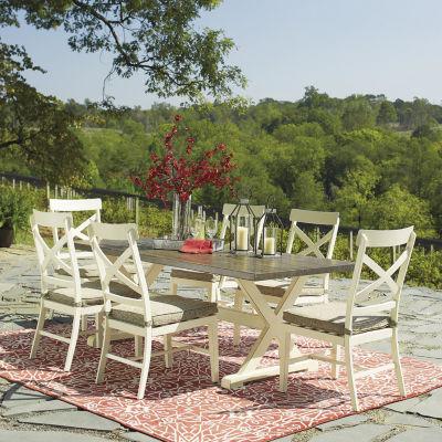 signature design by ashley preston bay 7 piece patio dining set