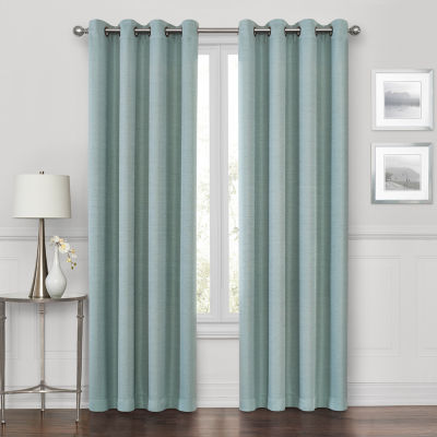 maxx blackout prescott 100 blackout grommet top single curtain panel