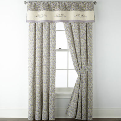 jcpenney home light filtering rod pocket set of 2 curtain panel