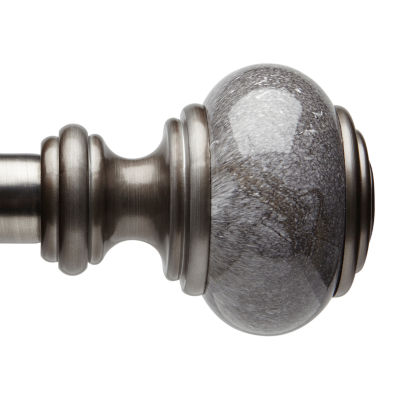 liz claiborne faux marble knob 1 1 4 in curtain rod
