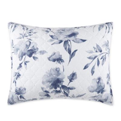 jcpenney home emma indigo rose pillow sham