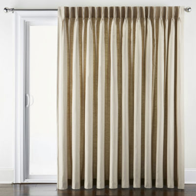 jcpenney home supreme thermal energy saving light filtering pinch pleat single patio door curtain