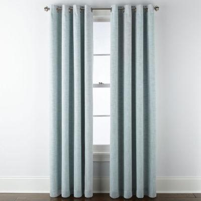 jcpenney home presley sparkle 100 blackout grommet top single curtain panel