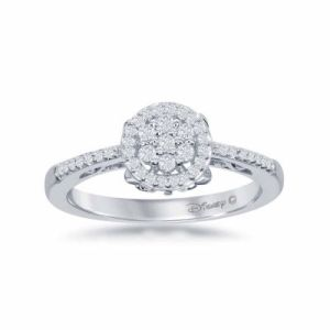 I Said Yes       1 6 CT  T W  Certified Diamond Engagement Ring Enchanted Disney Fine Jewelry 1 4 C T  T W  Diamond 10K White Gold   Cinderella  Carriage