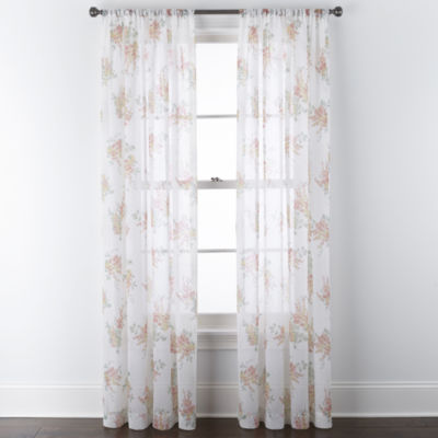 home expressions crushed voile sheer rod pocket single curtain panel