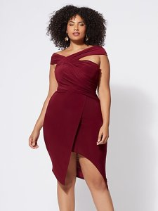 Plus Size Dresses for Women   Fashion To Figure FTF Signature   Viera Ruched Bodycon Dress   New York   Company