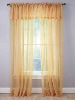 sheer voile rod pocket curtain panel 1 panel