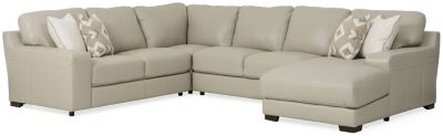 marcus leather 4 piece chaise sectional raf
