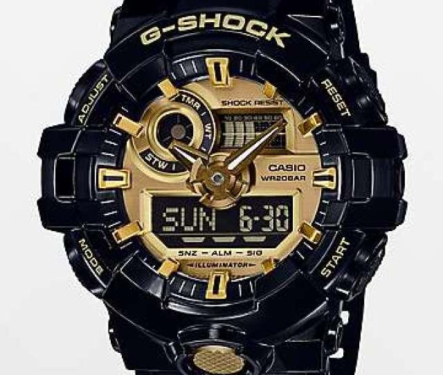 G Shock Ga710gb 1ag Black Gold Watch