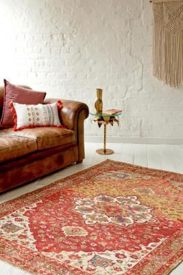 tapis a motif style vintage 5x7