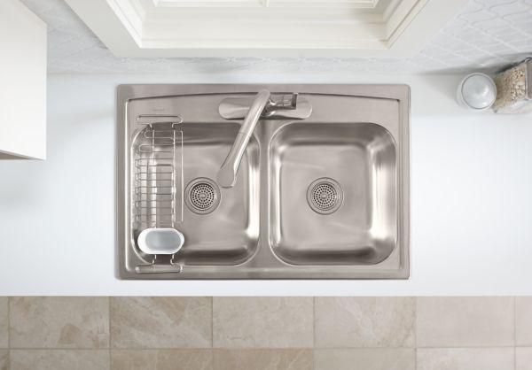 kitchen sink utility rack