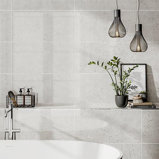 wickes rockford white lappato glazed porcelain wall floor tile 595 x 295mm