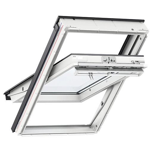 velux pine centre pivot roof window ggl 3050