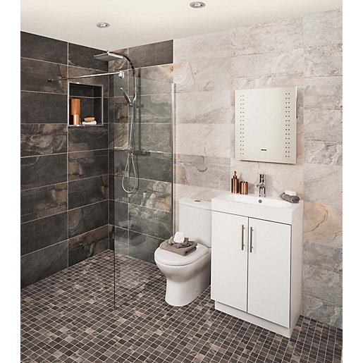 wickes colorado carbon grey porcelain tile 598 x 298mm