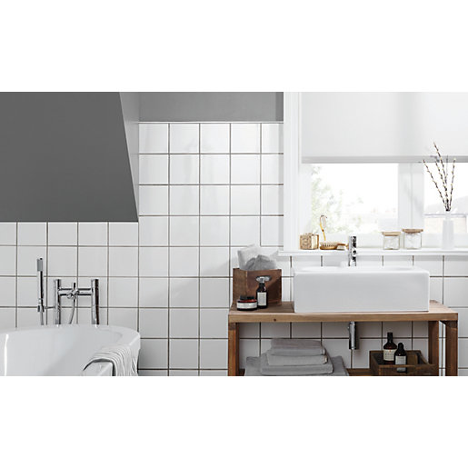 wickes white ceramic wall tile 150 x 150mm