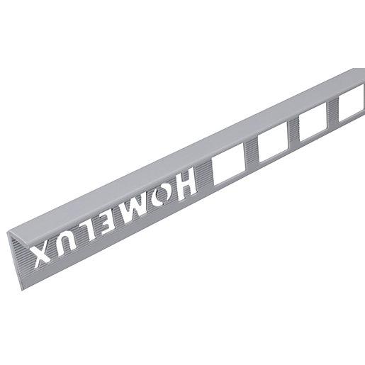 homelux 10mm pvc straight edge grey tile trim 2 5m