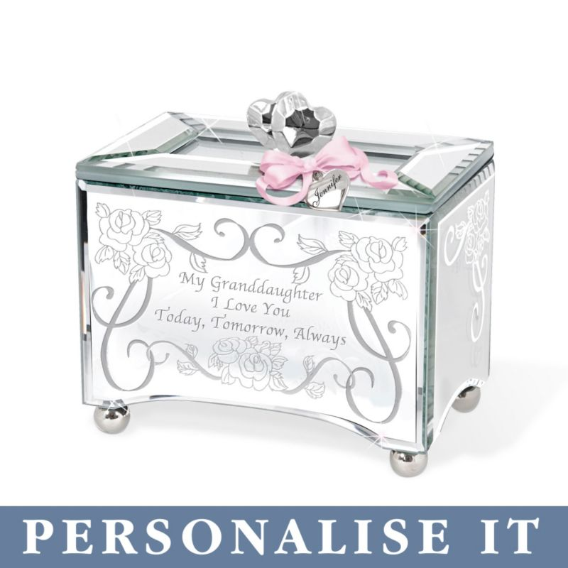 Personalised Glass Granddaughter Melody Music Box My