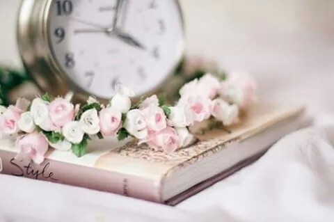 Image result for pretty clock with flowers