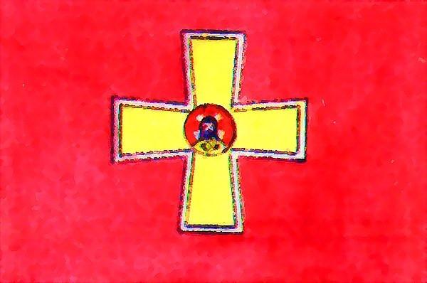 На зображенні: Прапор Ізюмського козацького полку.