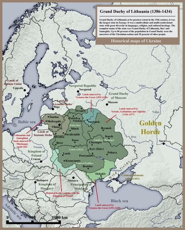 Велике князівство Литовське, Руське і Жемайтійське у 1386—1434 роках