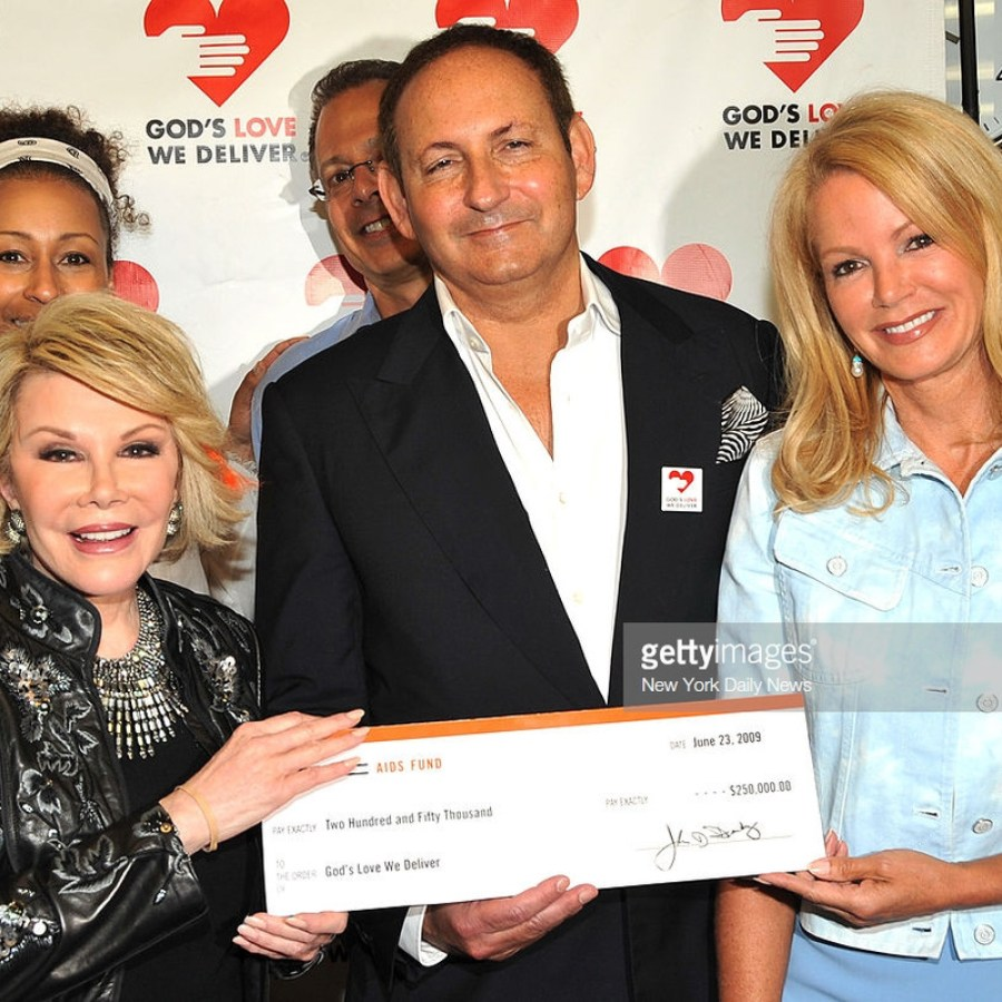 Joan Rivers, John Demsey and Blaine Trump (vice chairman of GHWD) at God's Love We deliver