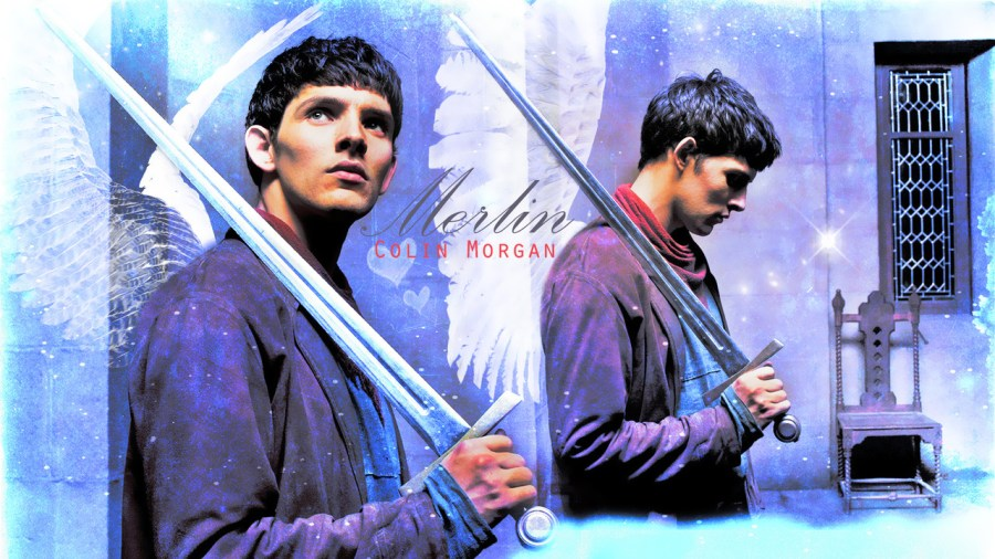 Colin Morgan in the poster of Merlin