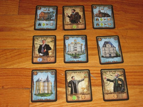 The final round of Spyrium always contains these nine cards, but they still come out in a different order, and placement matters.