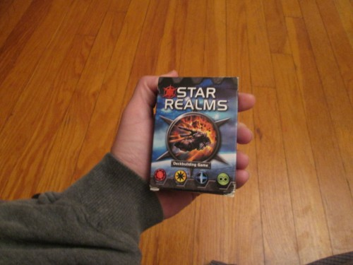 The box for Star Realms is small, making it super easy to transport. I love this feature of the game, since it allows me to take it everywhere, even when I usually wouldn't devote space to a two-player-only game.