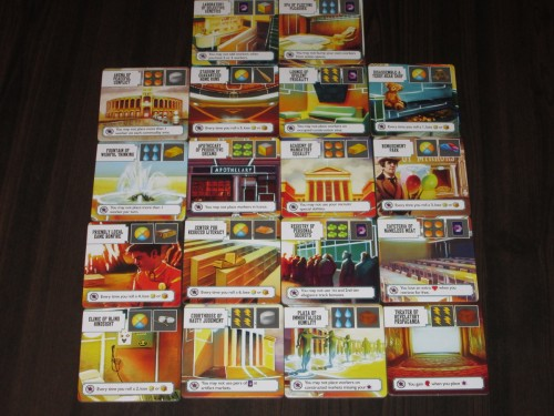 All the market tiles in the game. I love the names of these, and they also highlight the gorgeous artwork in the game.