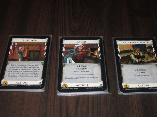 Butcher, Baker, Candlestick Maker. These three cards (especially the first two) make the set for me. I smile when I see the Baker in the mix because she changes everything.