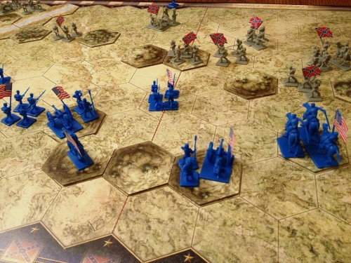 The Union left flank saves the day!
