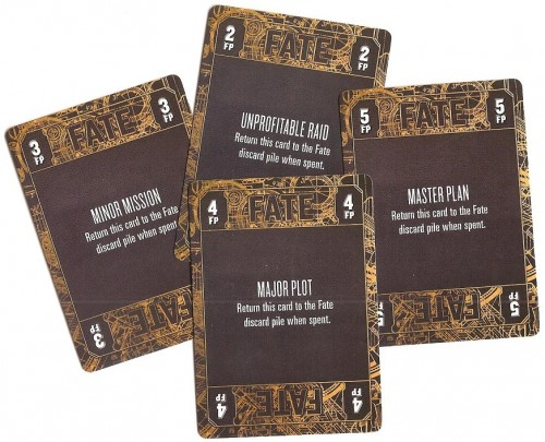 Fate cards - named for the RPG's FATE system - is the game's currency.