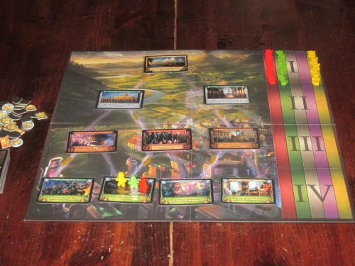 The game setup for three players.