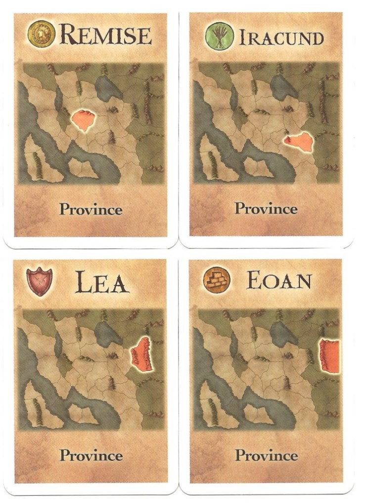 Provinces and the resources they yield.