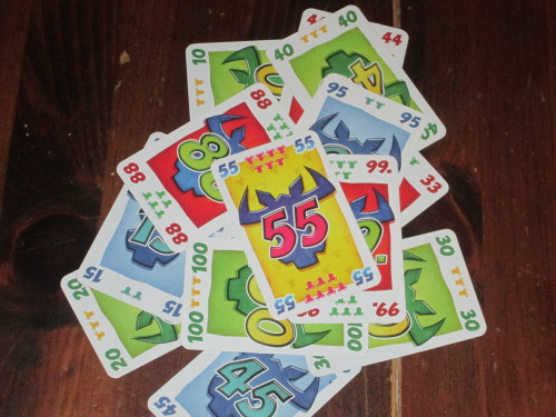 The higher point cards in 6 Nimmt! All cards are worth at least 1 point. But beware the 55!