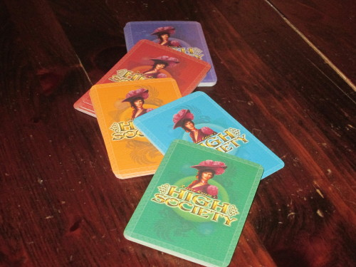 Each player gets all the money cards of one color. They are easy to sort at the end of the game.