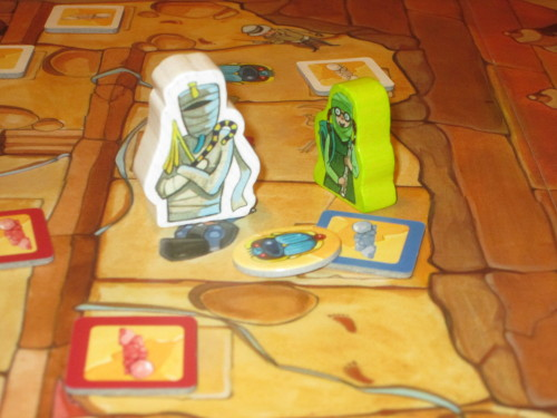 Scarabs help ward off the mummy and grant admission into the final chamber.
