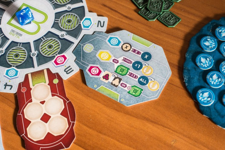 The second half of the game takes place on Space Foundry Beta with its own set of special actions.