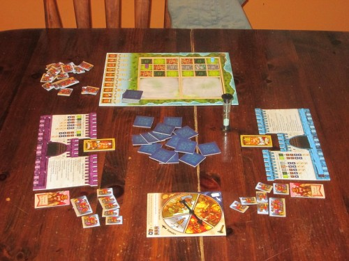 Tumult Royale set up for two players.