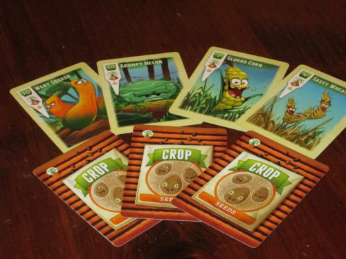 The basic crop cards in the game. Planting and harvesting is how you achieve victory.
