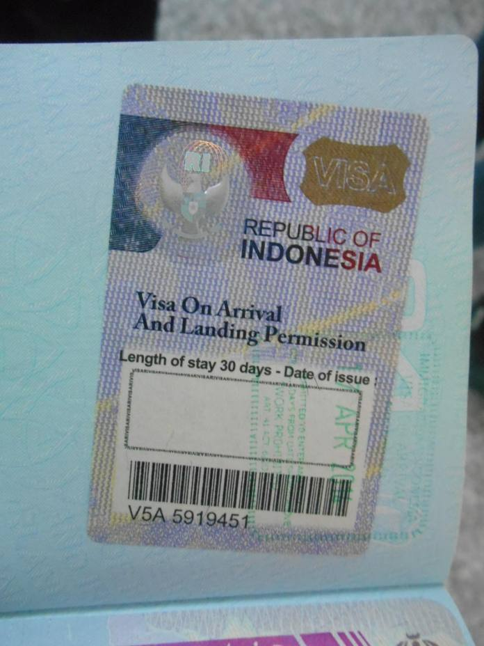How To Get An Indonesian Visa On Arrival In Denpasar Airport Bali