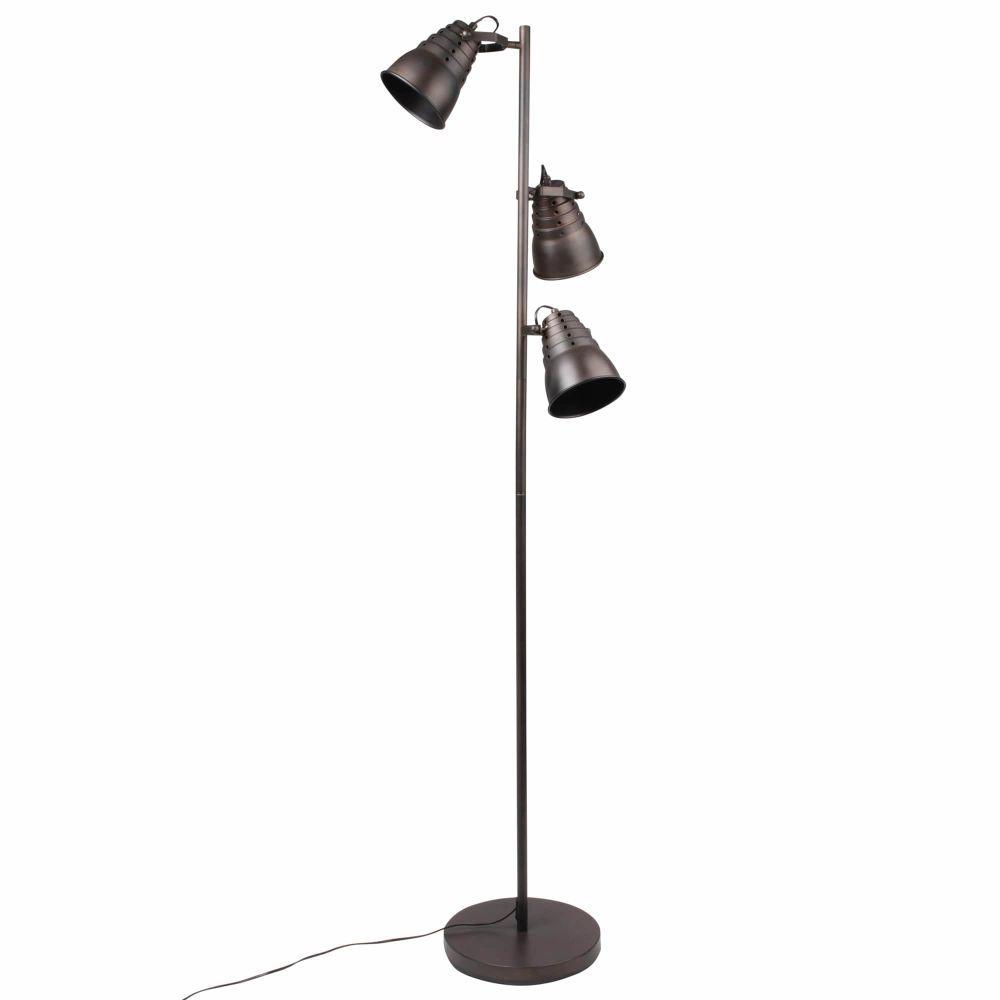 lampadaire double en metal